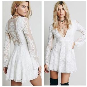 Free people reign over me lace dress 6 small